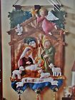 New Bucilla Felt Applique Embroidery Christmas Nativity Wall Hanging Kit 85331