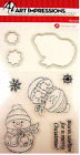 ART IMPRESSIONS Clear Stamp and Die CHRISTMAS SNOWMAN