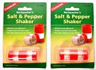 Set of 2 COGHLANS Backpackers Salt  Pepper Shaker 8236 Spill Moisture Proof