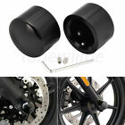 Pair Black Front Axle Nut Covers Fit For Harley Electra Glide Road King FXDB