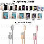 3X Lightning USB Cable Charger DATA SYNC cord for Apple iPhone 7 PLUS 6 6S 8 5 S