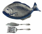 Wilton Armetale Fish Tray + 2-pc Grande Baroque Wallace Sterling Serving Set