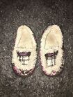 REEF Youth Girls Slippers Plaid Pink Brown Fur Lining