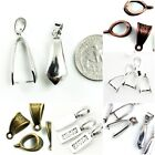 Pendant Bail Finding Silver Copper Gold Brass Jewelry Making 10mm 15mm 18mm