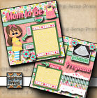 MOM TO BE pregnancy BABY GIRL 2 premade scrapbooking pages paper DIGISCRAP
