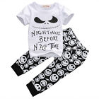 2pcs Monster Toddler Newborn Baby Boys T shirt Tops+Pants Outfits Set Clothes