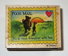 Pooh Mail Rubber Stamp Its So Much Friendlier With Two Winnie Piglet Heart Rare