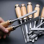 12 Piece Set Woodworking Professional Gouges Wood Carving Hand Chisel Tools