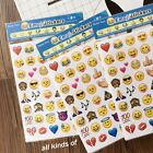 4 Sheets Fun Emoji Stickers Die Cut Stickers Shell Paper Book Decals 48 Sheet