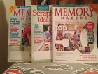 MEMORY MAKERS Scrapbooking Magazines 3 in all with HUNDREDS of design ideas