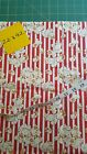 Snuggle FLANNEL Golden Movie Popcorn on Red  White Stripes BTHY
