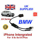 BMW X4 Series Fully intergated Audio Cable for Appple iPhone 5 5c 5s 6 6 Plus