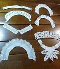 Antique Victorian and Vintage Lace Collar Lot Irish Crochet Rose Sailor