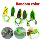 5x high Quality Fishing Lures Frog Topwater Crankbait Hooks Bass Bait Tackle