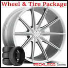 22 BLAQUE DIAMOND BD11 CONCAVE SILVER WHEELS AND TIRES FITS BENTLEY CONTINENTAL