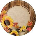 Autumn Sunflower Crafts 9 Inch Paper Plates 8 Pack Fall Party Decorations