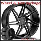 22 BLAQUE DIAMOND BD1 CONCAVE BLACK WHEELS AND TIRES FITS BENTLEY CONTINENTAL