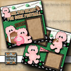 ARE YOU READY FOR SOME FOOTBALL 2 premade scrapbook pages paper BOY DIGISCRAP
