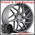 22 BLAQUE DIAMOND BD3 CONCAVE GRAPHITE WHEELS AND TIRES FITS INFINITI FX35 FX45
