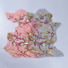 Flower Beaded Sequin Lace Embroidery Applique Patch Sew Clothes DIY Accessories