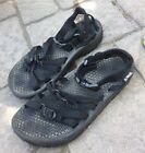 Sz 8 Teva WOMENS Outdoor Sport Sandals Strappy Black PRE OWNED REI
