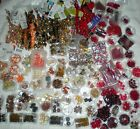 HUGE LOT OF GLASS BEADS ALL COLORS AND SIZES RED BROWN YELLOW ORANGE
