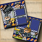 FOOTBALL GO TEAM sports boy 2 premade scrapbook pages paper layout DIGISCRAP
