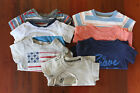 Baby Boy 3 6 Month Lot 7 Shirts Carters First Impressions Blue Stripe Adventure