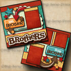 BROTHERS boy 2 premade scrapbook pages paper piecing layout DIGISCRAP A0122