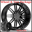 20 BLAQUE DIAMOND BD2 CONCAVE BLACK WHEELS AND TIRES FITS INFINITI G35 COUPE