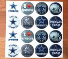 NFL DALLAS COWBOYS Epoxy Sticker 1 inch round 4 Bottle Cap and Craft Projects