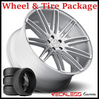 20 BLAQUE DIAMOND BD2 CONCAVE SILVER WHEELS AND TIRES FITS BENZ CLA200 CLA250