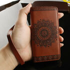 Retro Pattern Leather Flip Wallet Phone Case Cover for iPhone 8 Plus BROWN