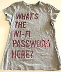 The Childrens Place Girls Graphic Tee Shirt 7 8 Funny Whats The Wifi Password