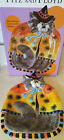 NIB Fitz & Floyd Kitty Witches Canape with Spiders Candy Dish Plate Platter