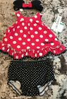 NWT BABY GIRL 3pc DISNEYS MINNIE MOUSE OUTFIT SIZE 0 3m