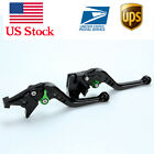 Short green Brake Clutch Levers For Kawasaki ninja 650R/er6f Z650 Z900 2017-2018