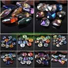 Lots Assorted Heart Flower Coin Teardrop Faceted Crystal Glass Loose Beads Mixed