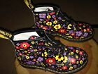Doc Martens Air Wair 101 Flower Black LEATHER Boots Boot Size US 8 EU 39 UK 6