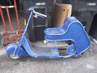 Vintage Moto Scoot Motor Scooter Project Frame w Engine Shield and Body
