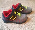 Toddler Infant Boy New Balance 890v5 Red Grey Neon Yellow Sneakers Sz 8 Euc