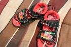 Disney Cars Lightning Mcqueen Boy Sandals Size 11 Light Up shoes pre owned