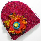 Knitted Slim Fit Beanie Skull-Cap Hat - Color: Chili Red
