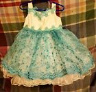 Pageant or formal wear  Handmade toddler size 3 pageant dressBlue and White