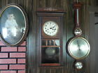 RARE Antique Gustav Becker Wall Clock Key Wind WORKING GREAT from Ge