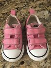 Converse Chuck Taylor Baby Infant Toddler sneakers Size 5 Pink with velcro