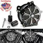 Flower Deep Cut Air Cleaner Intake Filter For Harley Electra Glide FLH 2008 16