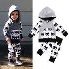 USA Kids Toddler Baby Boys Batman Hooded Tops Coat Pants Outfits Clothes 0 5T