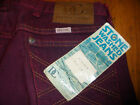 Vintage Washington Dee Cee stone washed jeans NWT W34 burgundy
