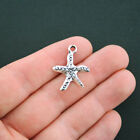10 Starfish Charms Antique Silver Tone SC4454